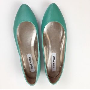 Steve Madden Almo Turquoise/Teal Flats